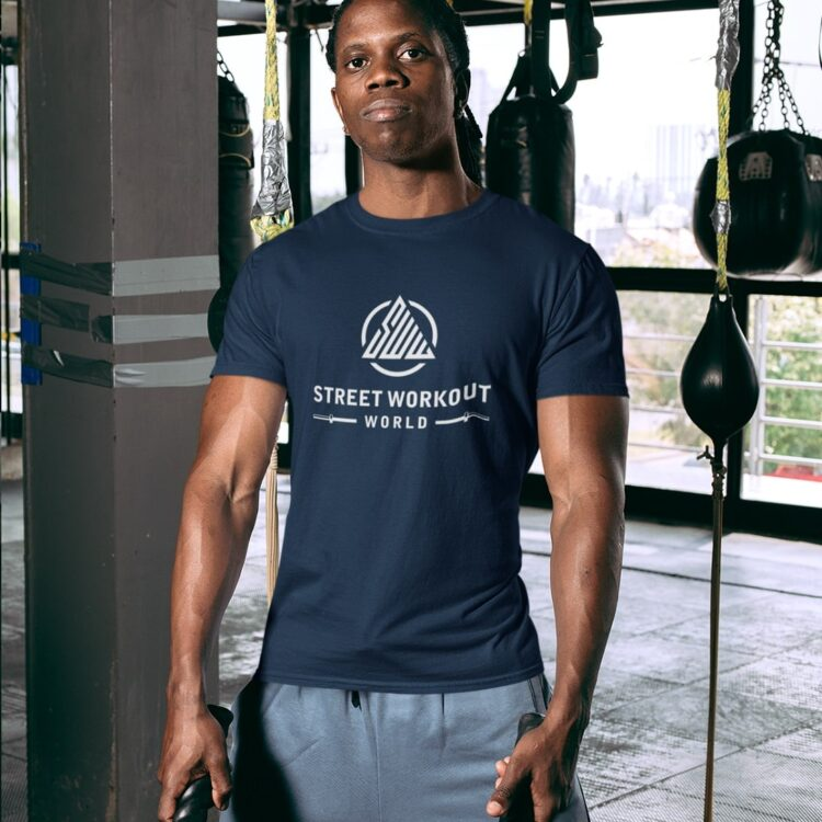 Classic Street Workout World T-Shirt Navy