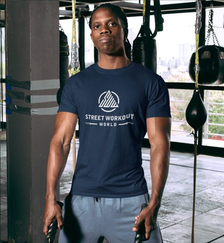 Classic Street Workout World T-Shirt Navy