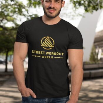 Street Workout Black and Gold T-Shirt